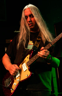 J Mascis plays his model Jazzmaster